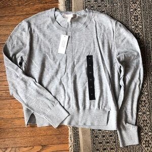 Cotton grey Banana Republic crewneck sweater
